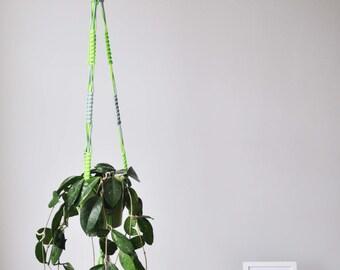 Retro inspired handmade macrame plant hanger
