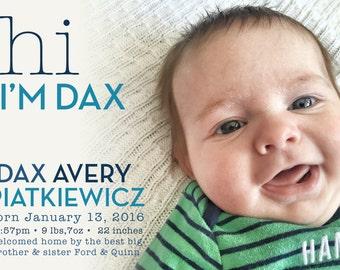 Simple Birth Announcement