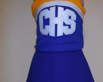 Royal Blue CHS Cheerleader Uniform Dance Halloween Costume
