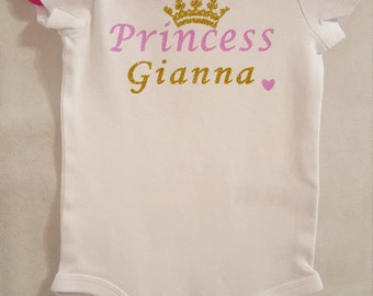 princess personalized onesie