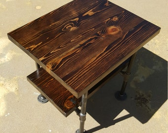 Industrial Pipe End Table, Ancon Edition