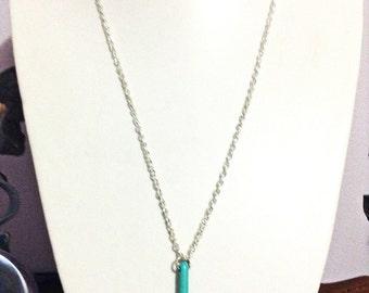 Turquoise spike pendant