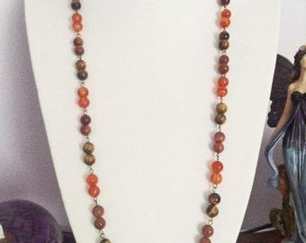 Orange gemstone necklace
