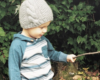 Cable Textured Knit Toddler hat {KAIS}