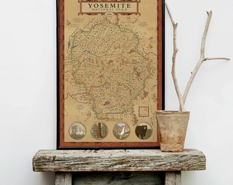 Yosemite National park, Yosemite National Park Map, see America map, john muir trail map, el capitan map, sequoia trees
