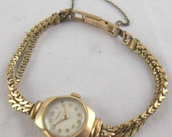 Rotary Rolled Gold Bezel Steel Back Watch. Antique Rotary