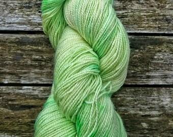 Euphobia, hand dyed BFL fingering high twist yarn