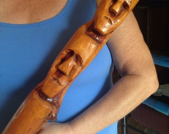Hand carved war club