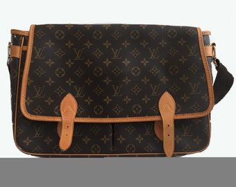 Louis Vuitton Vintage Leather/ Canvas Messenger Bag