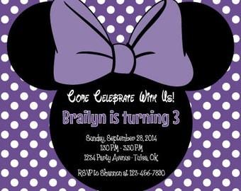 Minnie Mouse Birthday Invitation | Minnie Mouse Invitation | Minnie Mouse Bowtique | Oh Twodles | Printable Invitation | The Party Darling