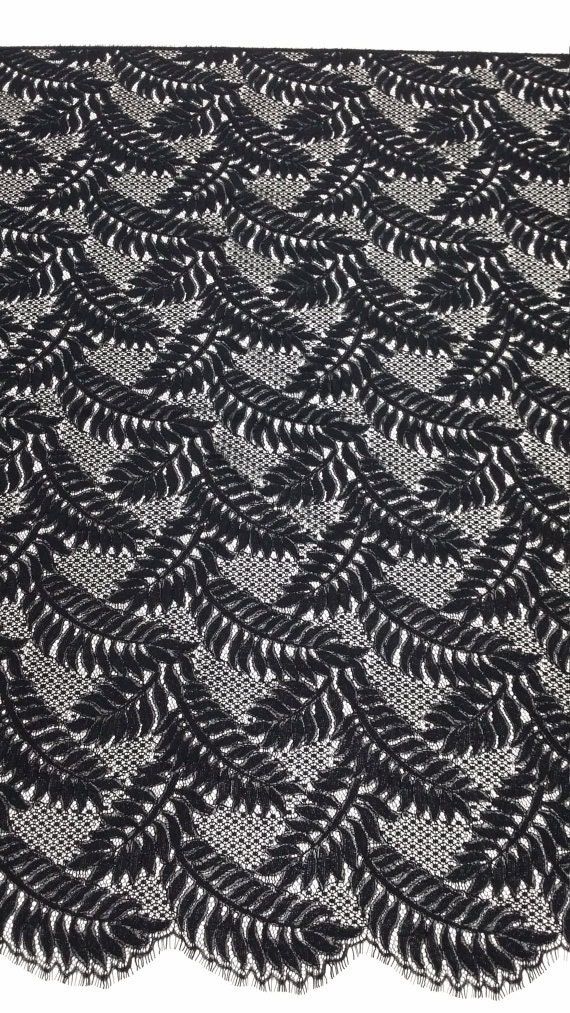Black lace fabric Spanish Lace Embroidered lace Wedding