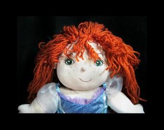 plush doll - Waldorf doll - stuffed doll - cloth doll - Steiner doll - gift for girls - rag doll , # 62