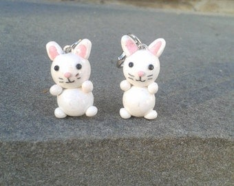 Polymer Clay Easter Bunny/Rabbit Charms