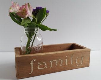Family Table Centerpiece, Mason Jar Centerpiece , Rustic Decor,  Farmhouse Decor,  Wedding Centerpiece, Rustic Gift,  Family Centerpiece
