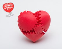 Limited Time Sale!!! Best Anniversary  Gift, Steampunk Rotating Gear Heart (3D Printed) Best Gift For Any Occation.