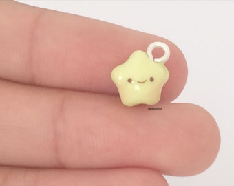 Tiny Star Charm - Handmade from Polymer Clay