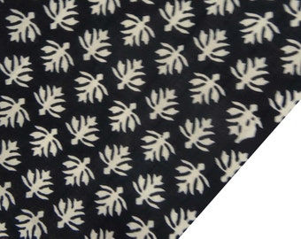 "Designer Fabric, White Floral Print, Black Fabric, Dressmaking Fabric, Quilt Material, 44"" Inch Cotton Fabric By The Yard ZBC7291A"