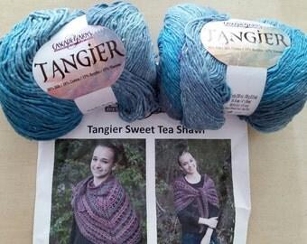 DESTASH! Cascade Tangier Sweet Tea Shawl Kit