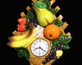Funky wall clock from the 1970's--lots of fruit!
