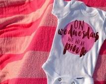 Mean Girls Onesie® | On Wednesdays We Wear Pink Onesie® | Movie Quote Onesie®