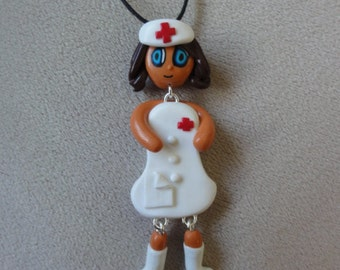 Necklace doll fantasy, Fimo