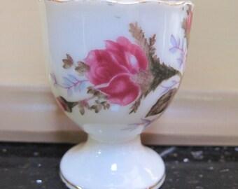 Vintage Moss Rose Egg Cup - Item #1280