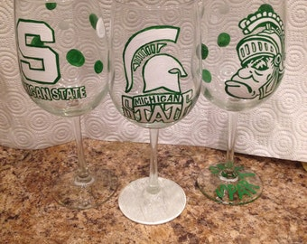 Michigan State Wineglasses