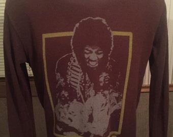 Vintage Jimmi Hendrix Long Sleeve Shirt Size Medium