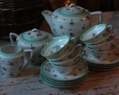 Retro French Limoges Porcelain Tea Set or Coffee Set