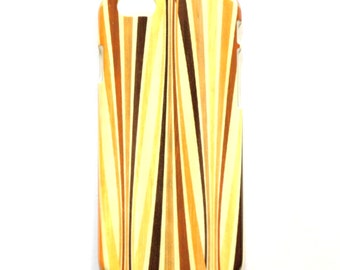 Retro Stripes iPhone 6 case, Yellow Stripes iPhone