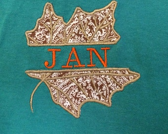 Embroidered & Appliqued Fall t-shirts