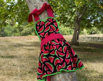 Watermelon kids dress up apron summer apron