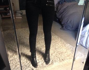 Black Pants w/ Zippers Sz 25