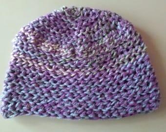 Crocheted Purple Hat