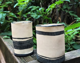 Black and White tribal inspired tumblers
