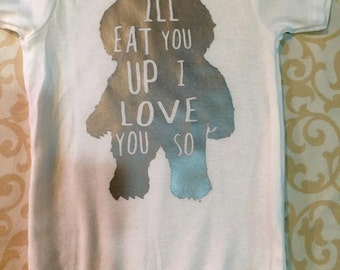 I'll eat you up I love you so onesie