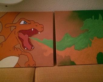 Charizard Pokémon painting