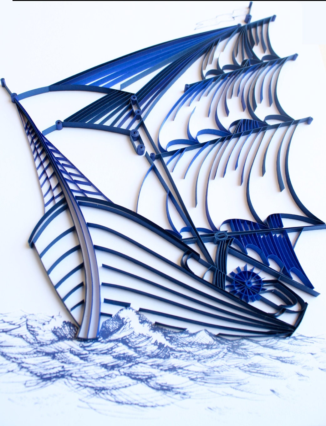 Quilling Home Decor Sailing Ship Unique Paper Quilled Wall Art For Home Decor