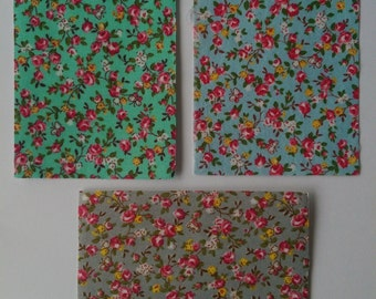 CRAFT ADHESIVE FABRIC Floral Print Craft Stickers