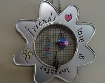 Friends, love, and laughter earring holder