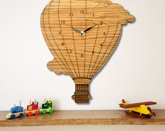 Hot Air Balloon Wall Clock, Children's Clock,