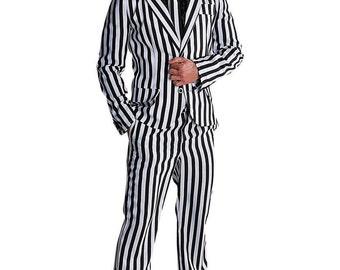 """Halloween , Deluxe """"Mr Beetlejuice""""  Suit"""