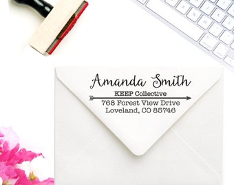 Custom Business Stamp - KEEP Collective Address Stamp - KEEP Collective Stamp - Keep Business Card Rubber Stamp - KEEP Consultant Stamp