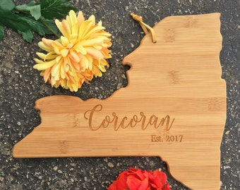 New York Cutting Board,State,Cutting Board,Personalized Cutting Board,Shower Gift,Wedding Gift,Anniversary Gifts,Housewarming Gift