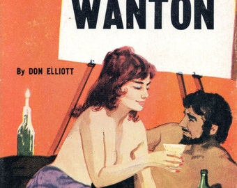 pulp art print Beatnik Wanton —  vintage pulp paperback cover repro