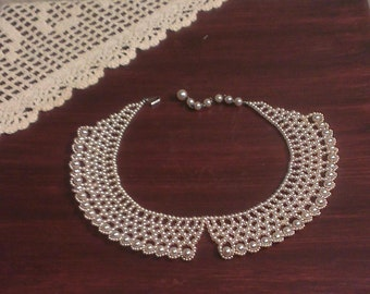 Vintage Faux Pearl Victorian-Style Collar - Japan (1950s)