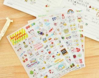 Petit Cochonn Stickers (6 sheets) / Cute Kawaii Planning Stickers / Cute Little Pig Stickers / Stationery / Stationary / School Supplies