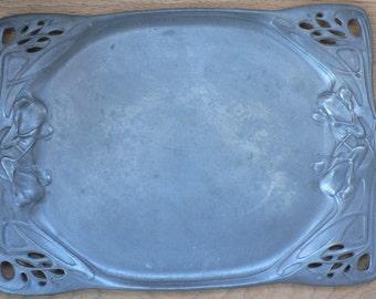 Art Nouveau Pewter grey Urania
