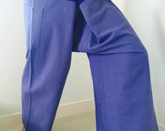 Cotton Fisherman Pants 2 Tone Casual 100% Cotton