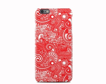 Red Paisley Pattern iPhone 6 Case - iPhone 6S case - iPhone 6 Plus Case - iPhone 5 Case - iPhone 5S Case - iPhone 5C Case